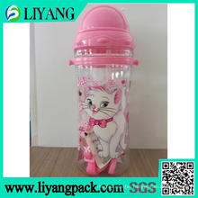 Cute Cat Cartoon Design, Heat Transfer Film for Plastic Water Bottle