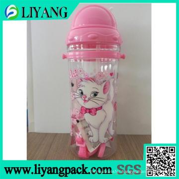 Cute Cat Cartoon Design, Heat Transfer Film for Plastic Water Bottle