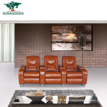 Factory Supply Home Theater Seating Furniture Cinema Recliner Leather Sofa