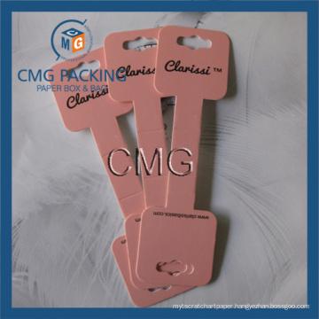 Pink Color Neklace Folded Card