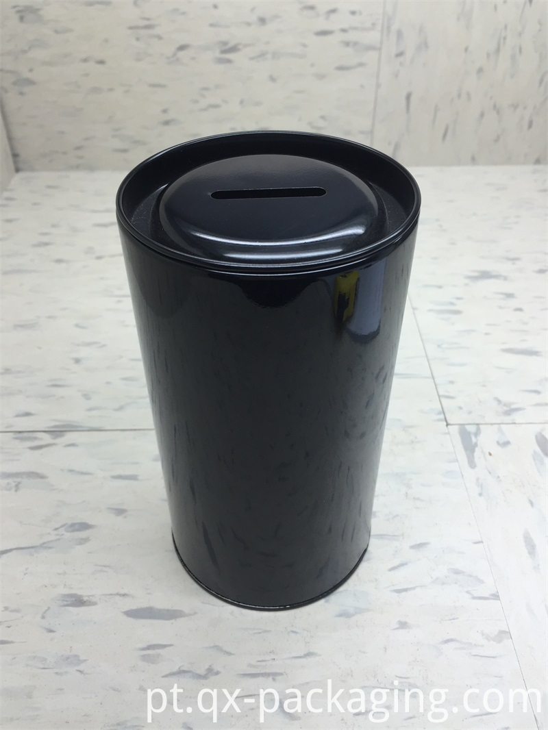 Black tin containers