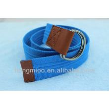 Дешевые досуг синий украшенные ткани ремни для человека с двойной пряжкой кольцо