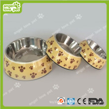 Classical Footprint Padrão Plastic Pet Dog Bowl