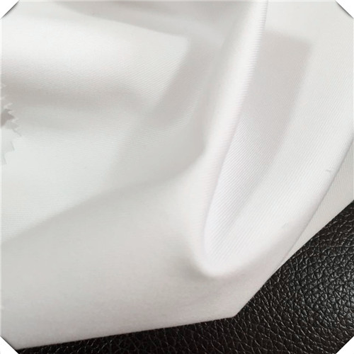 Bleached White Twill Pants Fabric