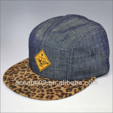 fashion leopard print 5 panel hat