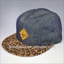 Chapéu de painel de impressão de leopardo de moda