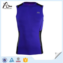 Custom Mens Sublimated seco Fit formação singlet Fitness Wear
