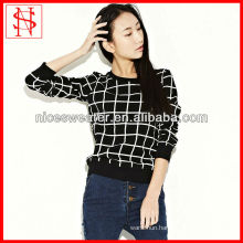 fashion long sleeve crew neck full print women pullover 3d printing sweater