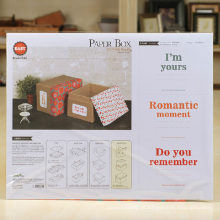 Dobrável Embalagem DIY Paper Gift Box Kit