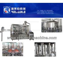Fabricant de machine de capsulage remplissante de rinçage de l'eau de bouteille en plastique