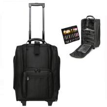 Rolling Makeup Train Case Hairdressing Luggage Travel Trolley Cosmetic Case