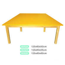 Wooden Trapezoid Table for Kids with Certificate of The En 1729-1 and En 1729-2