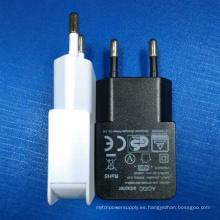 Adaptador de cargador de viaje USB Plug 5V1.2 (1200mA) de EU