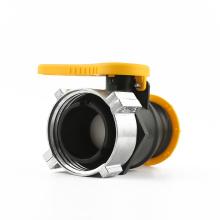 """Válvula de esfera Camlock de 2 """"para bolsa IBC de 62 mm"""
