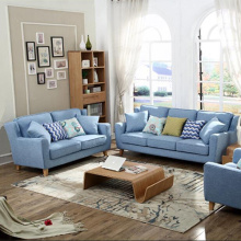 Stoff Kissen Sleeper Lounge Sektionale Sofa Set