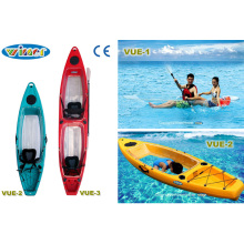2 Seats Transparent PE+PC Material Kayak with Hatch