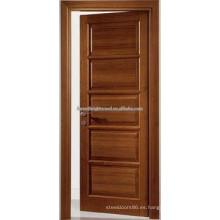 Diseños de madera enchapada de la puerta de madera de la teca