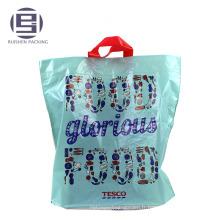Bleu impression sac de poignée de boucle de vente haut pour faire du shopping