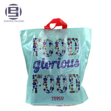 Blue printing top selling loop handle bag for shopping