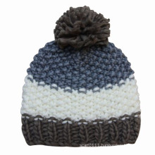 Lady Fashion Wool Knitted Winter Warm Beanie Hat (YKY3107)