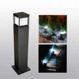 Morden style aluminum solar lamp for garden with 4 W solar panel
