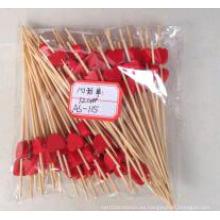 Palillo del bambú de la fruta de la forma del corazón