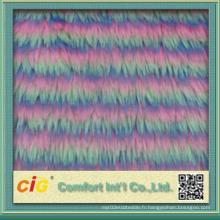 Tissu coloré à la fourrure en faux fourrure de bonne qualité