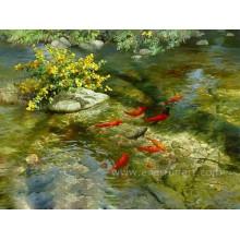 Peinture de poisson sur toile pour salon