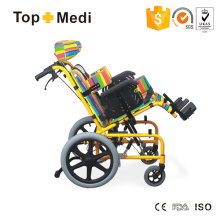 Topmedi Medical Equipment Reclining Aluminum Wheelchair for Cerebral Palsy Children