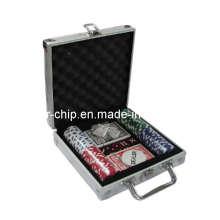 100PCS Poker Chip Set dans le boîtier en aluminium Square Corner (SY-S08)