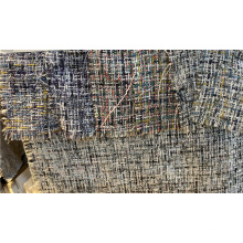 Polyester Lurex Plaid Fancy Knit Fabric