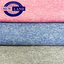 T-shirt de sport en coton avec une texture semblable à du polyester jersey simple mélangé