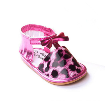 Внешняя торговля Розовый леопард Весна резиновый Soled Baby Мягкие нижние сандалии