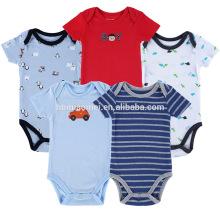 2017 vente chaude infantile bodysuits bébé animal impression barboteuses bébé vêtements onesie bébé garçons barboteuse