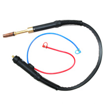 light and flexible cable assembly automatic copper Mig water cooled welding torch for 501D
