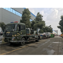 Dongfeng hook arm garbage truck to collected waste