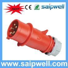 SAIP IP44 industriel 5 prises mâle de raccords électriques commutateurs et prise SP3