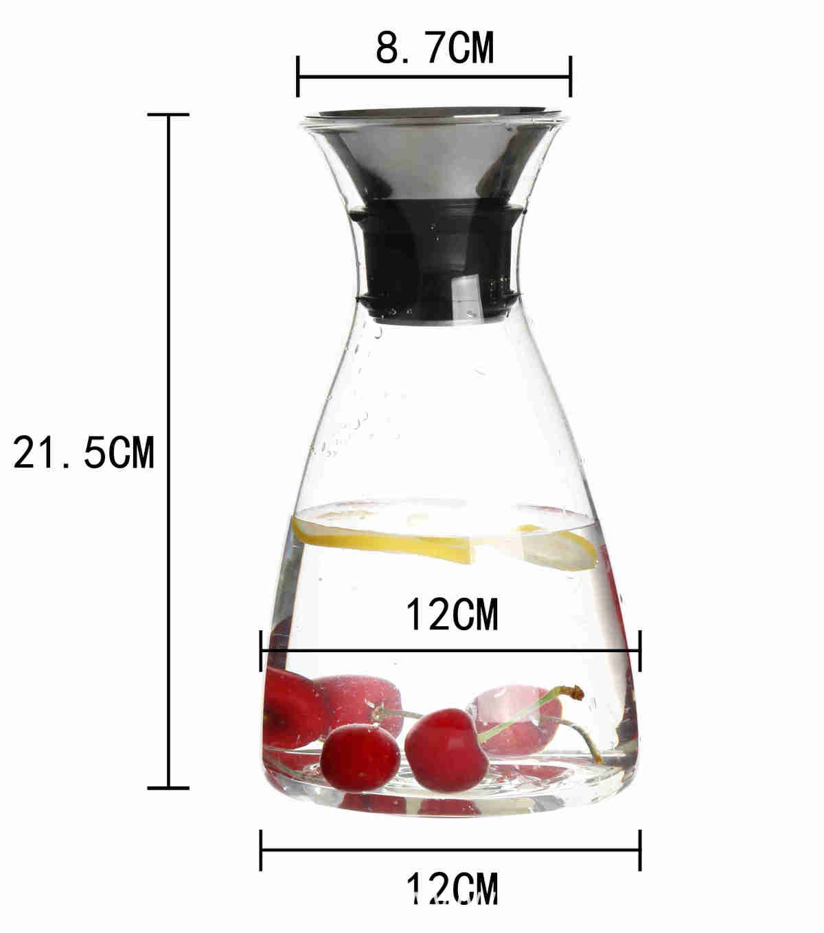 high borosilicate Glass heat cold resistant best quality coffee milk tea carafe pot maker pitcher with airtight stainless steel lid 00 (20)