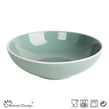 Assiette à soupe en céramique émaillée de 8 po