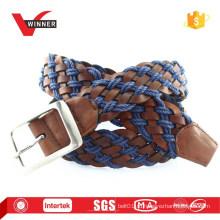 Модные мужские PU и веревочные ремни с плетеными ремнями