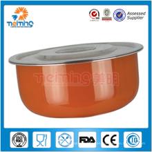 Envase de almacenamiento de comida del acero inoxidable 5pcs / tazón de fuente de mezcla / Crisper