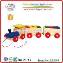 Juguete de tren de madera para los niños