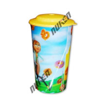 2015 Yellow Printed 3D Cup with 3D Effect