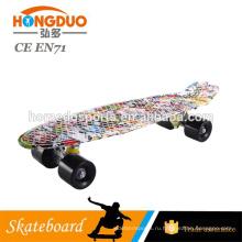 22 дюймов PP золотистый хром цвет пластиковые скейтборд