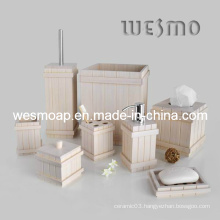 White Bamboo Bath Set Household Product (WBB0608B)