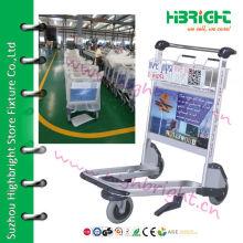 Алюминиевый сплав Аэропорт Cart, багажная тележка аэропорта, троллейбус аэропорта