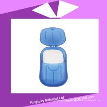 Jabón de baño perfumado personalizado del jabón con la caja plástica (BH-008)