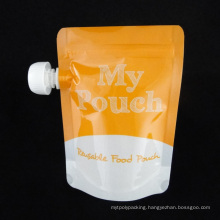 Reusable Baby Food Spout Pouch with Zipper for Refilling