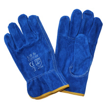 Cowhide Split Leather Drivers Industrial Safety Glove Mechanical Leather Work Gloves