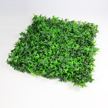 Guirnalda de boj artificial de pared verde artificial al aire libre